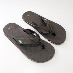 Sanuk Beer Cozy Brown Mens Flip Flop Sandals 13
